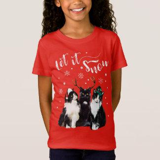 Weihnachten, Winter. Gelassen ihm schneien. T-Shirt