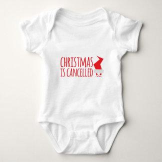 Weihnachten wird mit verärgerter Sankt Baby Strampler