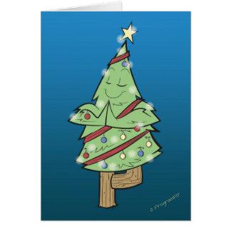Weihnachten - Yoga-Baum-Pose Grußkarte