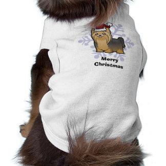 Weihnachten Yorkshire Terrier (langes Haar kein T-Shirt