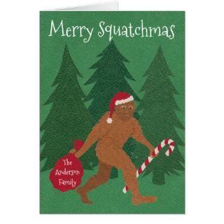 Weihnachten Z Sankt Squatch addieren Ihren Karte