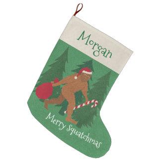 Weihnachten Z Sankt Squatch für Kinder addieren Großer Weihnachtsstrumpf