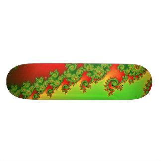 Weihnachten zeichnet Skateboard