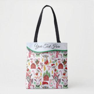 Weihnachten-ZIEGEN Süßigkeit und Klingel Bell Tasche