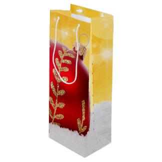 WeihnachtenBokeh Schnee-Weihnachtsball Geschenktüte Für Weinflaschen
