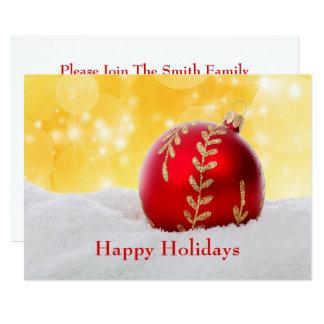 WeihnachtenBokeh Schnee-Weihnachtsball Karte