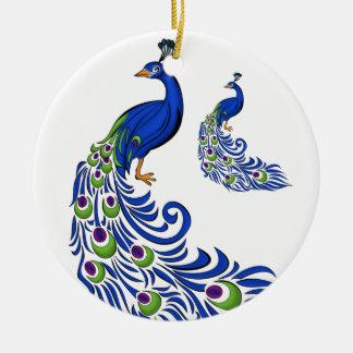 Weihnachtenc$verzierung-pfaus Keramik Ornament