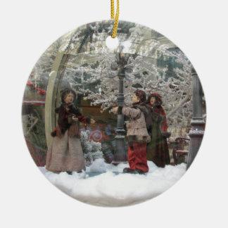 WeihnachtenCarollers Verzierung Rundes Keramik Ornament