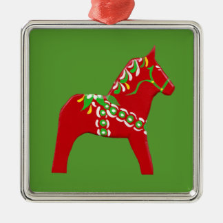 WeihnachtenDala Pferde Silbernes Ornament