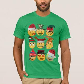 Weihnachtenemoji Sammlung lustiger Shirtentwurf T-Shirt