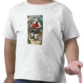 WeihnachtenGreetingSanta Gebäude-Schlitten T Shirts