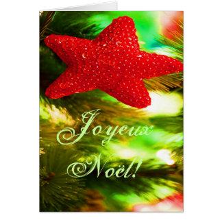 WeihnachtenJoyeux Weihnachten-roter Grußkarte