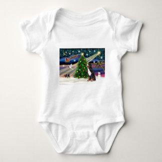 Weihnachtenmagie-c$bernese Gebirgshund Baby Strampler