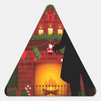Weihnachtennosferatu Dreieckiger Aufkleber