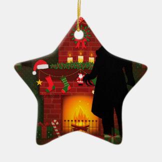 Weihnachtennosferatu Keramik Stern-Ornament