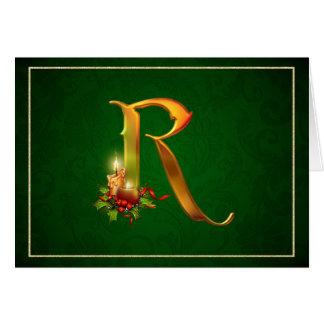 WeihnachtenNotecard glühende beleuchtete Kerzen Karte