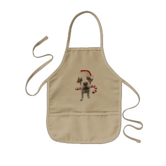 Weihnachtenpitbull - Sankt pitbull - Hund Sankt Kinderschürze