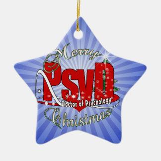 WEIHNACHTENPsyD Doktor von Psychologie Keramik Ornament