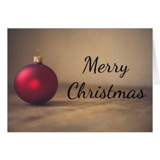 Weihnachtenrote baubel Dekoration Grußkarte Grußkarte