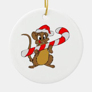 WeihnachtenSüßigkeit Maus Keramik Ornament