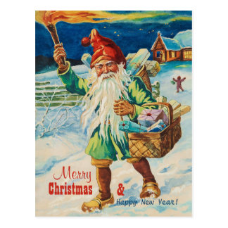 Weihnachtentomte mit Fackel CC0938 Jenny Nyström Postkarte