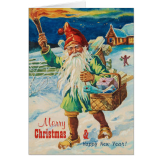 Weihnachtentomte mit Fackel CC0939 Jenny Nyström Karte