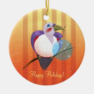 WeihnachtenToucan Vogel-Verzierung Keramik Ornament
