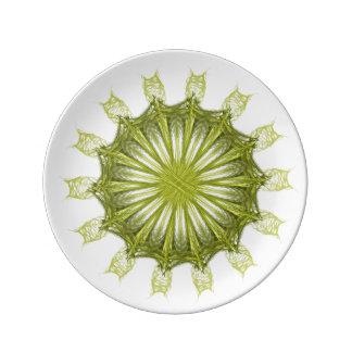 weihnachtliches Stern  Ornament Porzellanteller