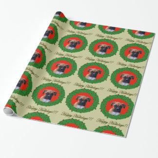 Weihnachts   boxer-HundePackpapier Geschenkpapier