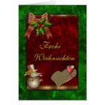 Weihnachts Entwurfs-MIT Schneemann und Herz Grußkarte