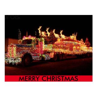 Weihnachts-LKW-Postkarte Postkarte