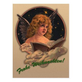 """Weihnachts-Postkarte """"Singender Engel"""" Postkarte"""