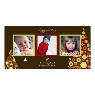Weihnachts-, Snowman- und Sankt-Baum-Fotokarten Karte