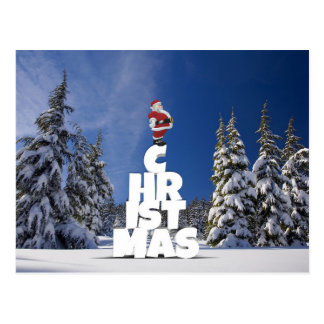 Weihnachts- und Weihnachtsmann-Postkarte Postkarte