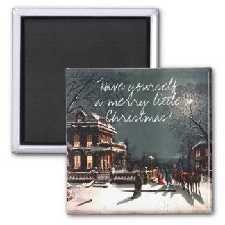 Weihnachtsabend 1880 quadratischer magnet