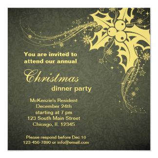 Weihnachtsabendessen Quadratische 13,3 Cm Einladungskarte