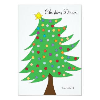 Weihnachtsabendessen-Einladung Karte