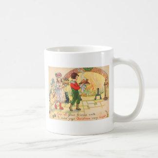 Weihnachtsabendessen Kaffeetasse