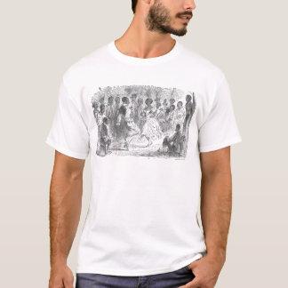Weihnachtsabends-Festlichkeiten auf einem T-Shirt