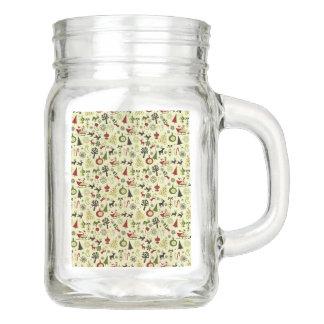 Weihnachtsabends-Muster Einmachglas