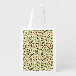 Weihnachtsabends-Muster Wiederverwendbare Einkaufstasche