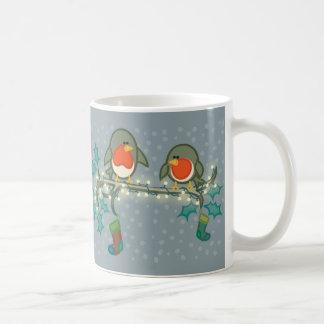 Weihnachtsabends-Rotkehlchen Kaffeetasse