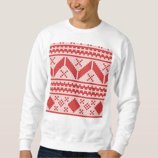 Weihnachtsabstraktes Pullover-Strick-Muster Sweatshirt