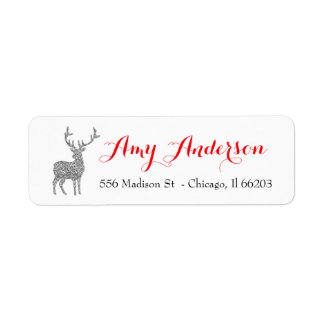 Weihnachtsadressen-Etikett mit silbernen