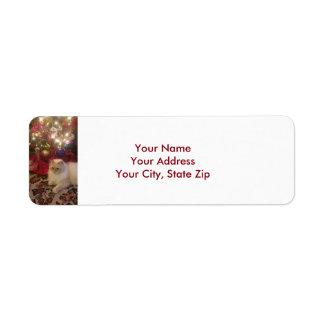 Weihnachtsadressen-Etiketten