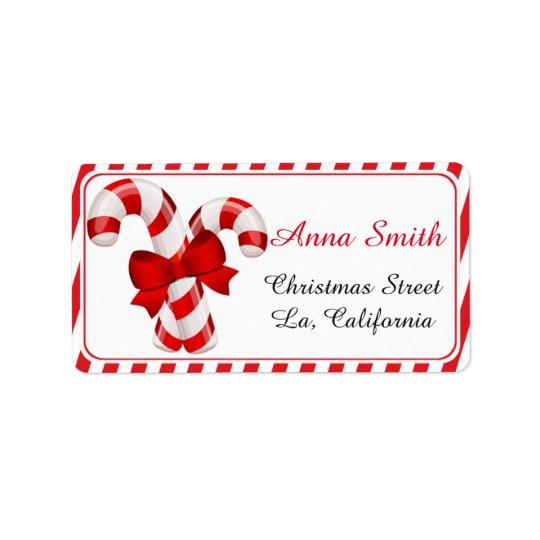 Weihnachtsadressen-Etiketten, Adressaufkleber