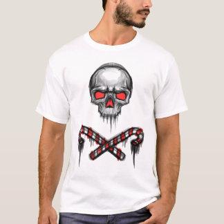 Weihnachtsalptraum-Schädel Licht T-Shirt