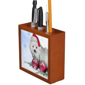 Weihnachtsamerikanischer Eskimohund Stifthalter