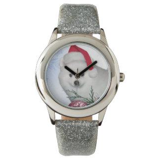 Weihnachtsamerikanischer Eskimohund Uhr