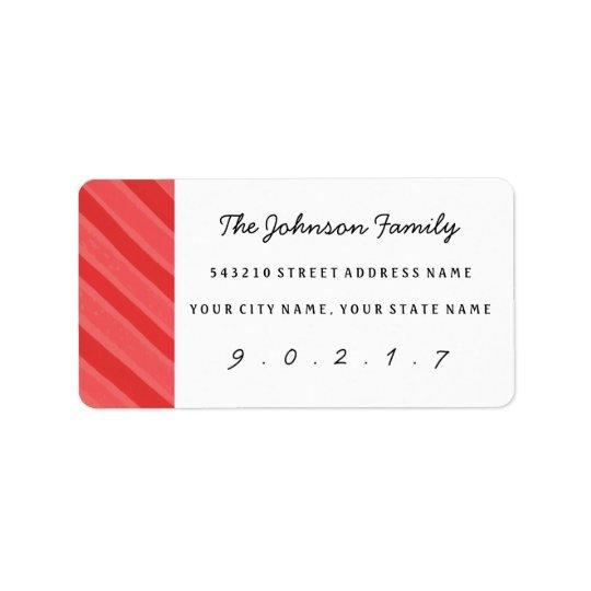 WeihnachtsAquarell-Streifen-kundenspezifische Adressetiketten